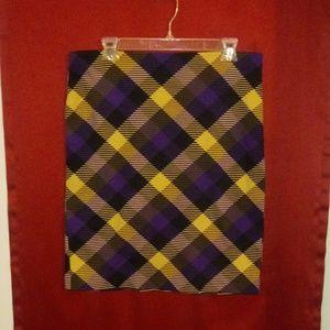 Grace Elements plaid skirt